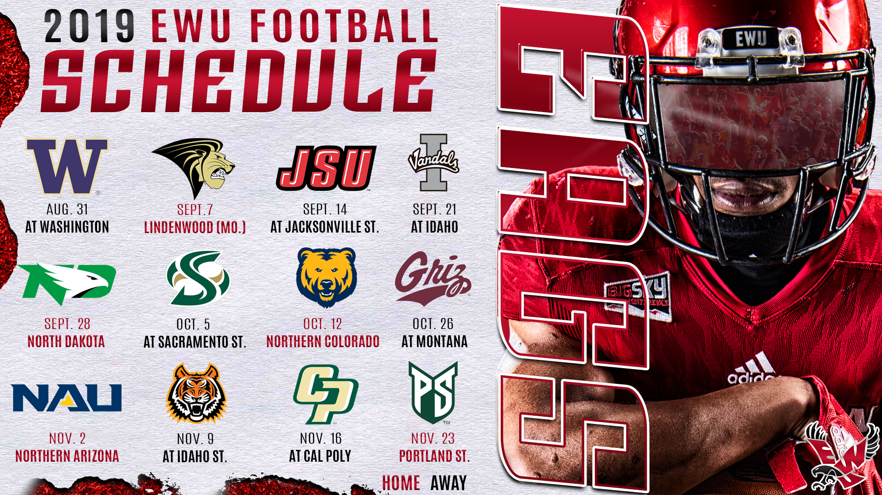 Eagles Announce 2019 And 2020 Schedules Eastern Washington